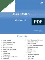 Java Session I