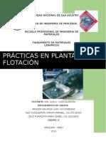 Prácticas en Plantas de Flotación