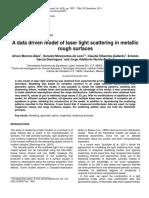 Moreno-b†Ez Et Al. - 2011 - A Data Driven Model of Laser Light Scattering in Metallic Rough Surfaces