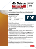 Belle Saison Yeast Specification Sheet