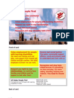 AWPF Election Campaign Card