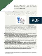 Cara Berjualan Online Dan Elemen Ecommerce