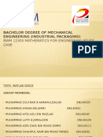 Bachelor Degree of Mechanical Engineering (Industrial Packaging