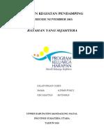 Laporan Kegiatan Pendamping_azhar Fuadi_november 2015