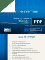 IPA Presage Reporting Procedure