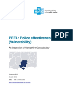 Police Effectiveness (Vulnerability) 2015 Hampshire