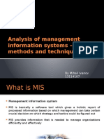 Analysis of Management Information Systems