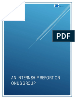 AN INTERNSHIP REPORT ON ONUS GROUP