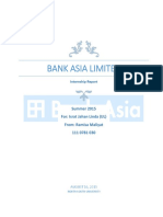 Internship Report On Bank Asia Limited