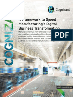 A Framework to Speed Manufacturing's Digital Business Transformation