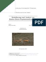 Modellierung und Analyse von Räuber Beute Populationsdynamiken (Modeling and analysis of predator prey population dynamics)