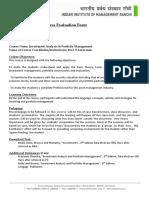 Course Outline Iapm-prof.p.saravanan