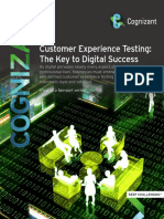 Customer Experience Testing