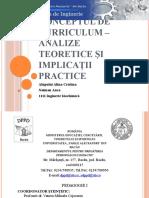 Conceptul de Curriculum – Analize Teoretice Şi Implicaţii(1)