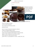 Glaze de Chocolate _ Escola de Bolo