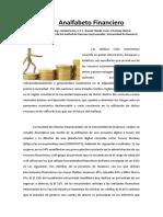 Analfabeto Financiero