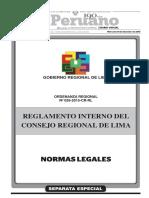 GOBIERNO REGIONAL DE LIMA ORDENANZA N° 026-2015-CR-RL