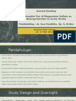 Presentasi Journal Reading - Prehospital Use of Magnesium Sulfate as Neuroprotection in Acute Stroke