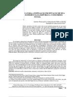 POLÍTICA PÚBLICA PARA A POPULAÇÃO EM SITUAÇÃO DE RUA EM CURITIBA