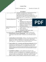 c i curriculum overview lesosn plan