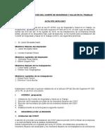 ACTA DE CONSTITUCION E INSTALACION DEL COMITÉ DE SEGURIDAD Y SALUD EN EL TRABAJO DE-AGNAV.doc