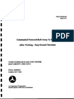 "National Highway Traffic Safety Administration (NHTSA, EA01-017) Final Report ""Unintended Powered Roll-Away In Reverse After Parking - Jeep Grand Cherokee"