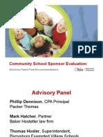 State Board Dec2015 Community School Sponsor Evaluation