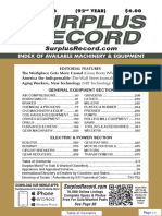 JANUARY 2016 Surplus Record Machinery & Equipment Directory