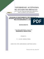 Programa de mantenimiento preventivo de la máquina envasadora TBA8 6000 base del grupo real de ganaderos S.A. de C.V..pdf