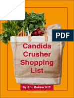 Candida Crusher Shopping List