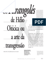 Os Parangolés de Helio Oiticica ou a Arte da Transgressão