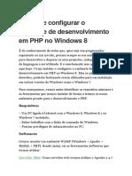 Instalar e Configurar o Ambiente de Desenvolvimento Em PHP No Windows 8