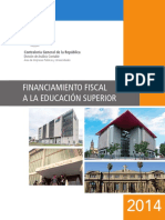 Financiamiento Fiscal a La Educación Superior 2014 - CGR