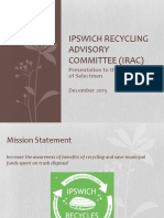 Ipswich Recycling Committee Report to Selectmen Dec. 14 2015