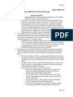 hlth634 brief marketing plan outline jewel brooks