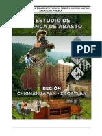 ESTUDIO DE CUENCA DE ABASTO PARA LA REGIÓN CHIGNAHUAPAN-ZACATLÁN, PUEBLA.