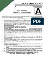 NDA GAT Question Paper