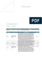 artist agreement fall 2015