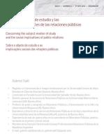 En torno al objeto de estudio y las implicancias sociales de las relaciones públicas