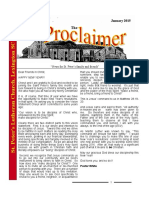 January 2016 Proclaimer
