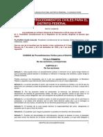 Codigo de Procedimientos Civiles, D.F.