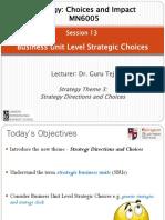 Week 13.2 - Business Unit Level Strategy