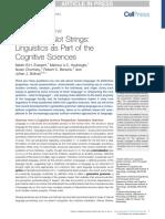 EVERAERT Et Al (2015) - Structures, Not Strings. Linguistics as Part of the Cognitive Sciences