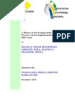 BORL HCU-DHT APC Scoping Study Report (Final)