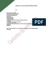 Lista de Material Para Unha de Fibra de Vidro(1)