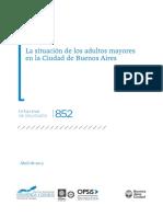 GCABA (DGEyC) - La Situación de Los Adultos Mayores en La Ciudad de Buenos Aires (2015)
