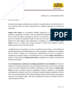 Carta a Alcaldes(a) de la plataforma Cómo Vamos Nuevo León