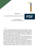 Sharing Ideas - I principi della Wikinomics applicati ai casi di Qoob, SciVee e Zooppa