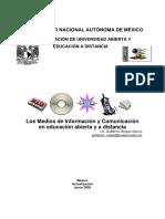 Los Medios de Información y Comunicación en La Educación Abierta y a Distancia