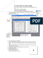 Creating True Type Fonts in Corel Draw